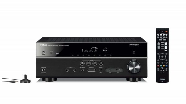 Yamaha RX-D485 è un sintoamplificatore audio video nero