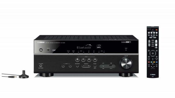 Yamaha RX-D485 è un sintoamplificatore audio video nero