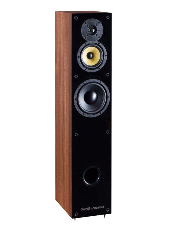Davis Acoustics Balthus 50 è un diffusore da pavimento noce aperto