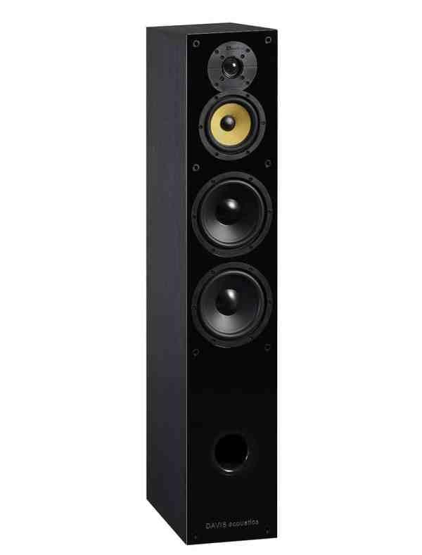 Davis Acoustics Balthus 70 è un diffusore da pavimento nero aperto