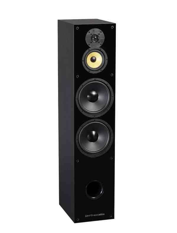 Davis Acoustics Balthus 90 è un diffusore da pavimento nero aperto