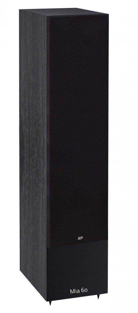 Davis Acoustics Mia 60 è un diffusore da pavimento nero griglia