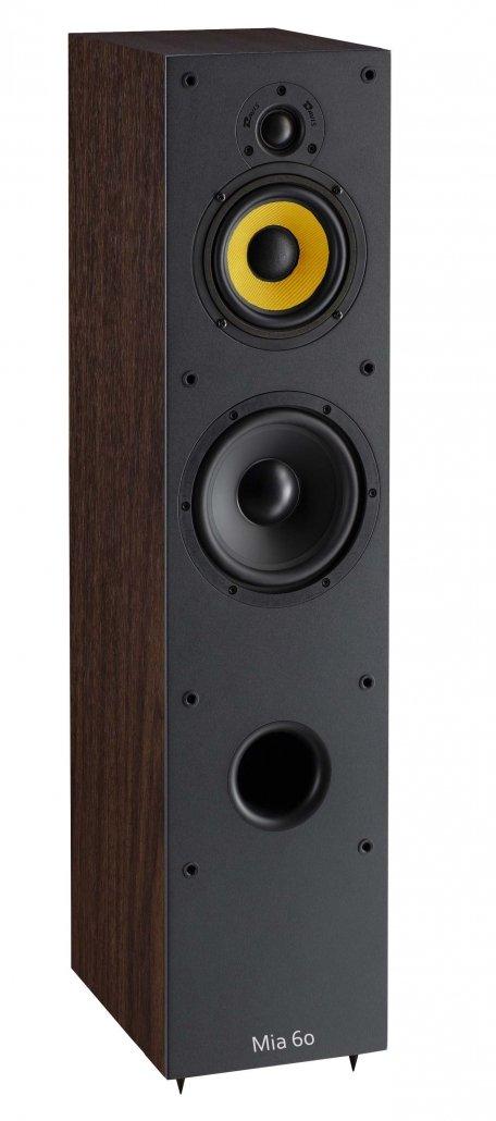 Davis Acoustics Mia 60 è un diffusore da pavimento noce aperto