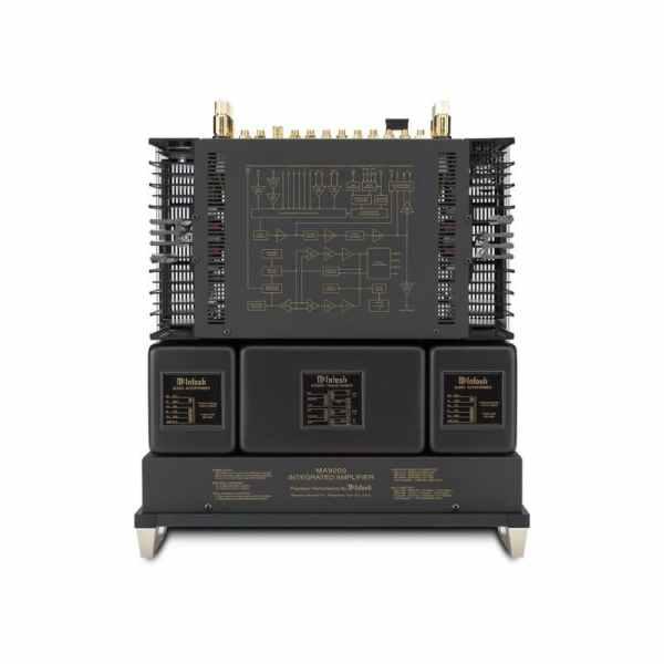 McIntosh MA9000 è un amplificatore integrato nero sopra