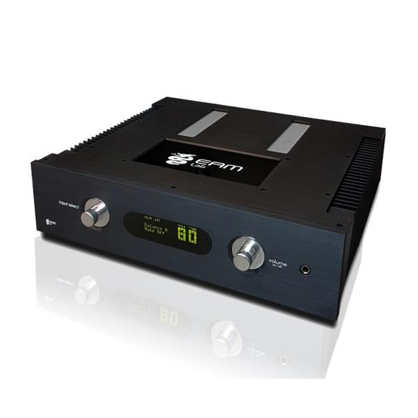 Eam Lab Musica 102i è un amplificatore integrato nero fronte