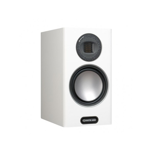 Monitor Audio Gold 100 5G è un diffusore da stand bianco aperto