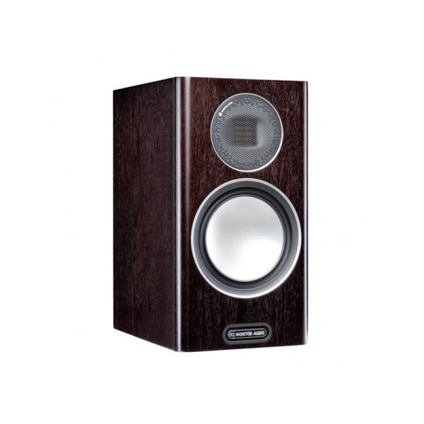 Monitor Audio Gold 100 5G è un diffusore da stand dark walnut aperto