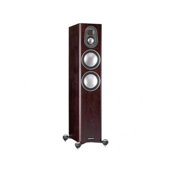 Monitor Audio Gold 200 5G è un diffusore da pavimento dark walnut aperto