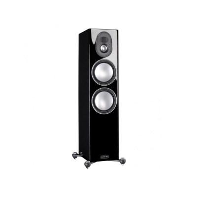 Monitor Audio Gold 300 5G è un diffusore da pavimento nero laccato aperto