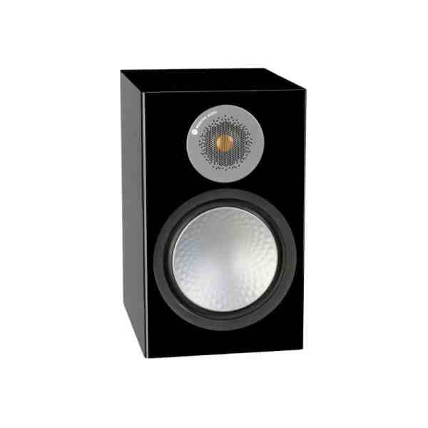 Monitor Audio Silver 100 6G è un diffusore da stand nero laccato aperto