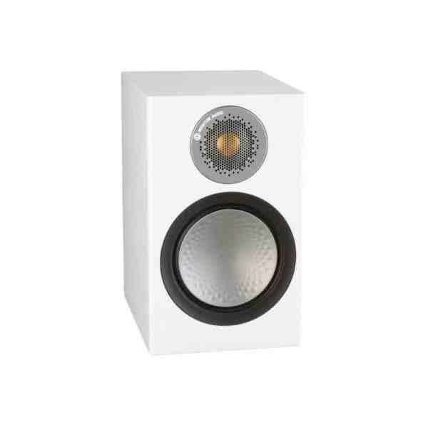 Monitor audio Silver 50 6G è un diffusore da stand bianco aperto