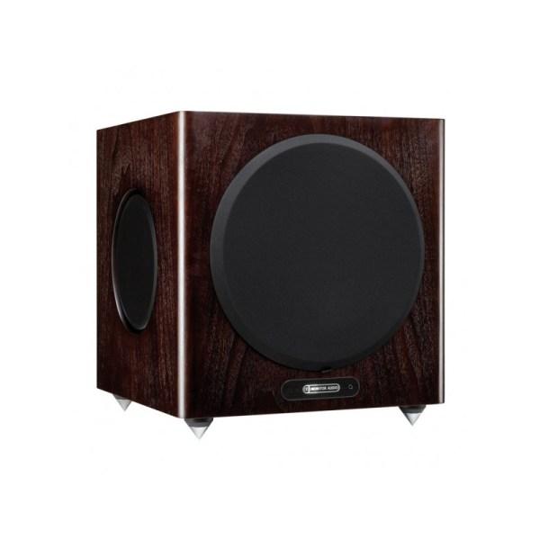 Monitor Audio Gold W12 5G è un subwoofer dark walnut