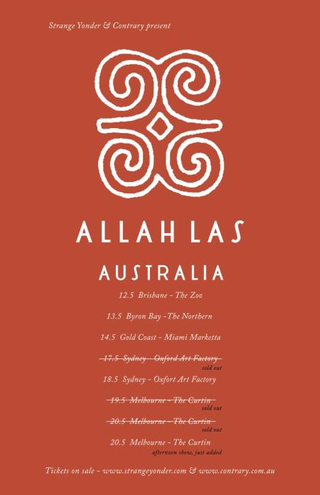 Allah-Las Tour Poster
