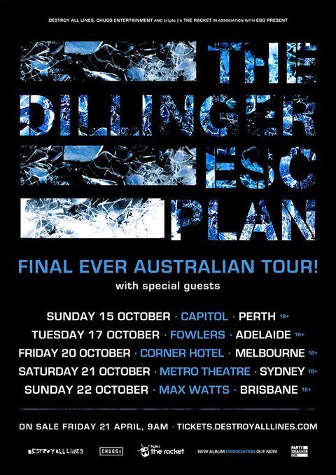 Dillinger Escape Plan Tour Poster