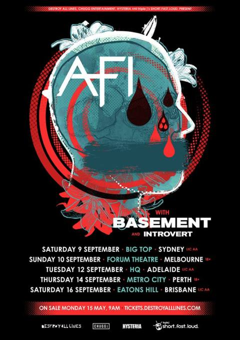AFI Australian Tour Poster