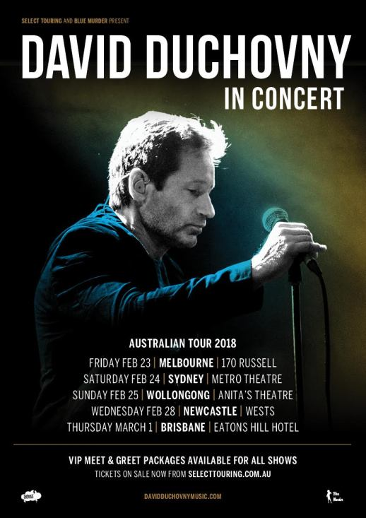David Duchovny Tour Poster