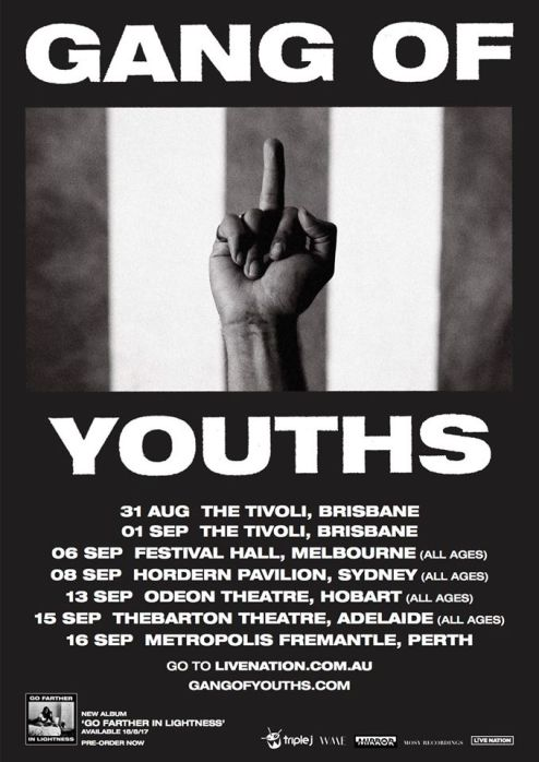 Gang Of Youths Australian Tour Poster 2017