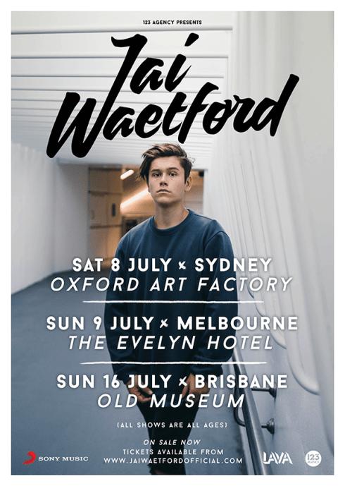 Jai Waetford Tour Poster