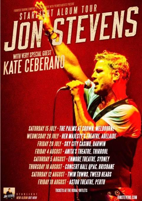 Jon Stevens Tour Poster
