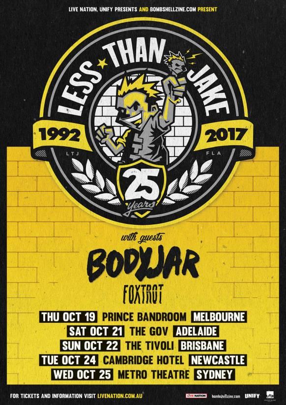 Less Than Jake Tour Poster