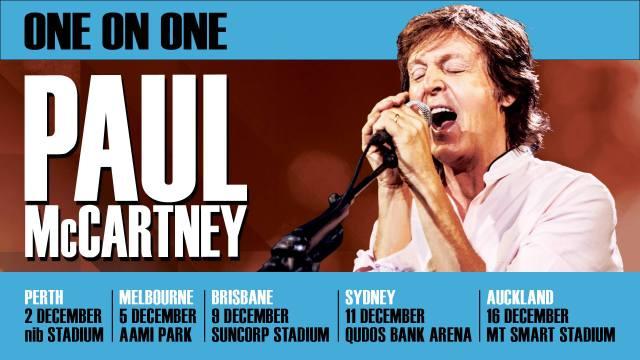 Paul McCartney Tour Banner