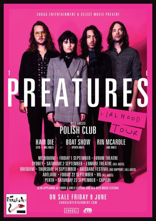 The Preatures Tour Poster