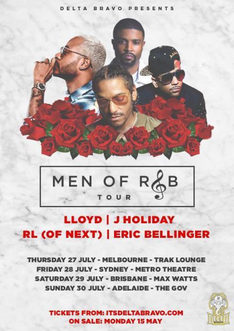 Men Of R&B Tour Poster