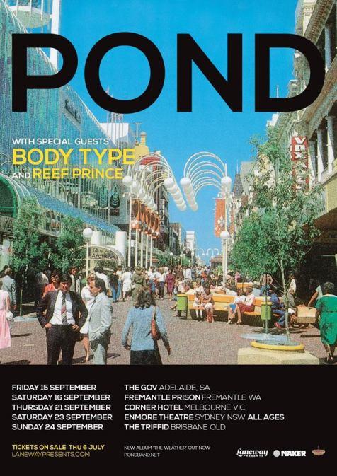 Pond Australian Tour Poster