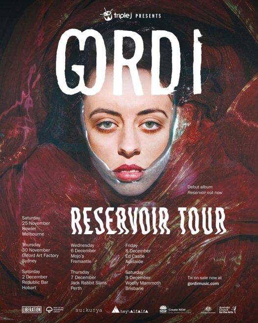 Gordi Australian Tour Poster