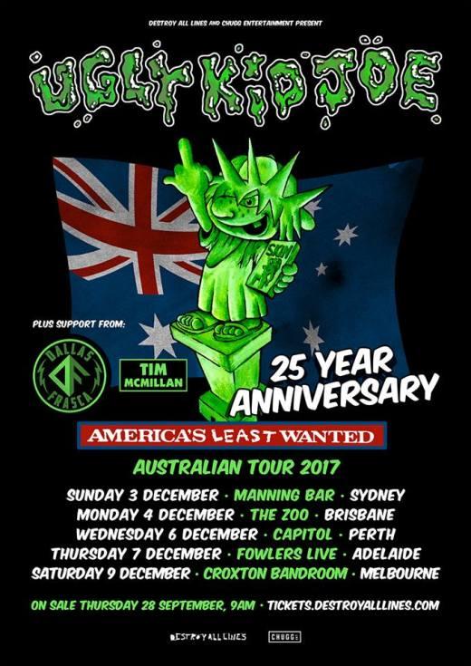 Ugly Kid Joe Tour Poster