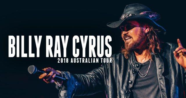 Billy Ray Cyrus Australian Tour Banner