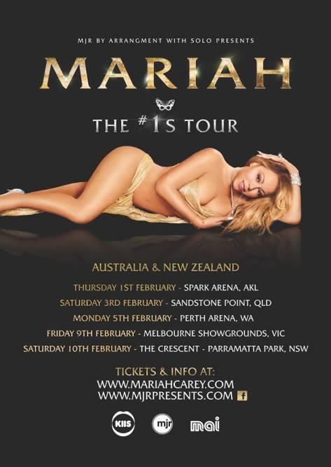 Mariah Carey Australian Tour Poster