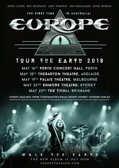 Europe Australian Tour Poster