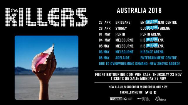 The Killers Updated Tour Banner