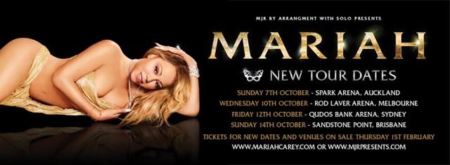 Mariah Carey Tour Dates Updated