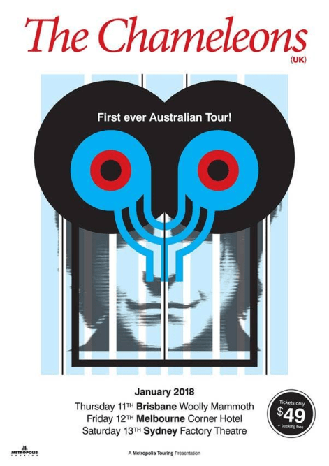 The Chamelons Tour Poster