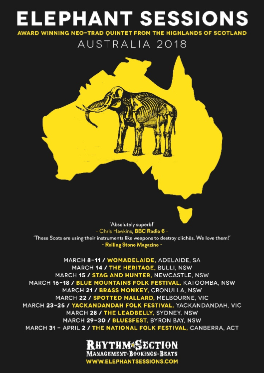 Elephant Sessions Tour Poster
