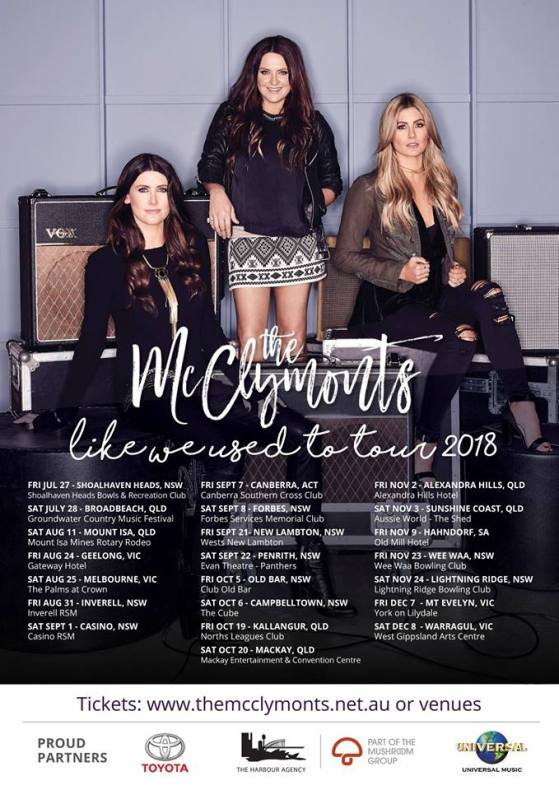 The McClymonts Tour Poster