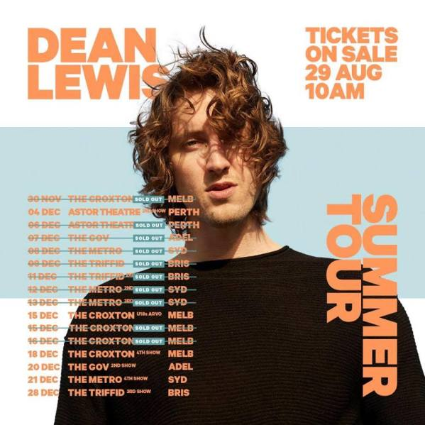 Dean Lewis Tour Poster
