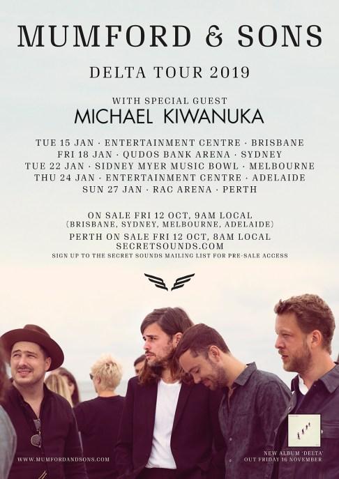 Mumford & Sons Tour Poster