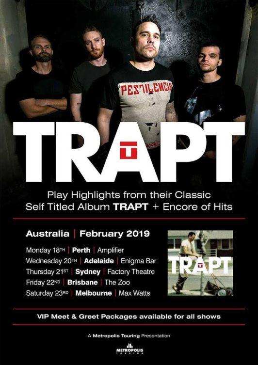 Trapt Australian Tour Poster