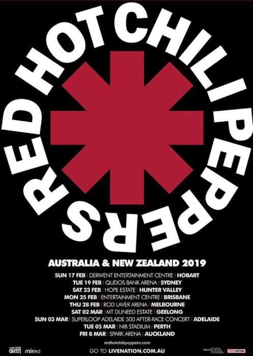 RHCP Tour Poster