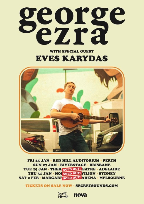 george ezra tour poster - updated