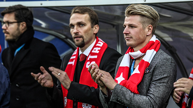 Henri Määttä (oik.) vastaa HIFK:n joukkueen rakentamisesta yhteistyössä päävalmentaja Jani Honkavaaran kanssa.