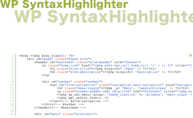 WP SyntaxHighlighter