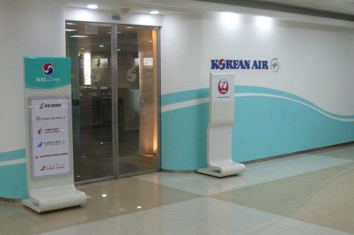 金浦の大韓航空ラウンジ入口