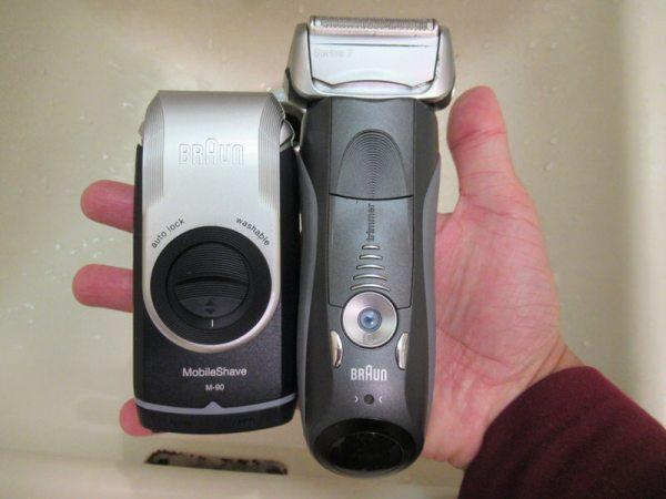 モバイルシェーバーブラウンm-90とブラウン7シリーズ