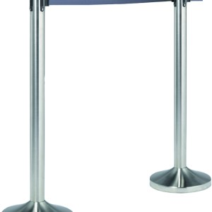 Chrome Stanchion Posts with Black Retractable Belts