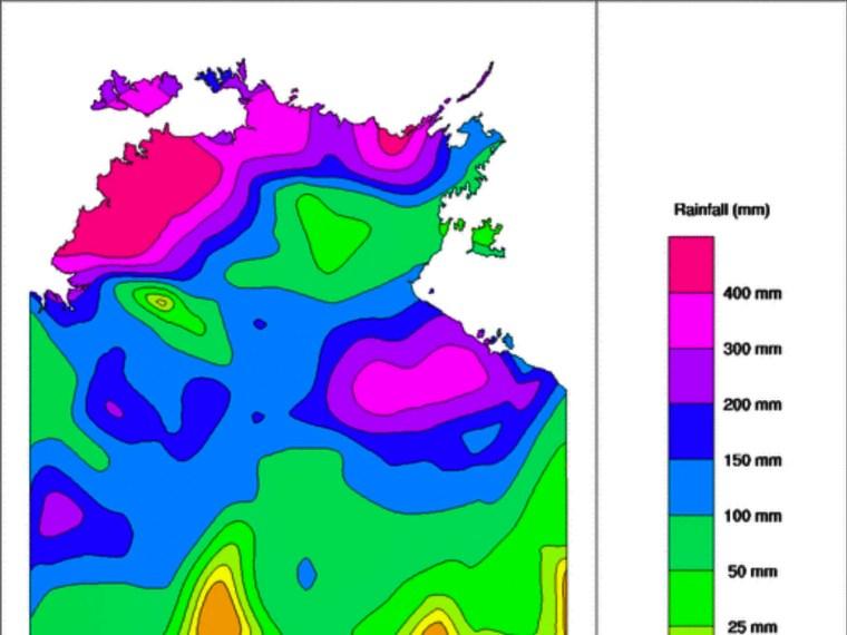 Weekly NT Rainfall via BOM