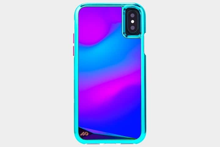 coque iphone x bleu